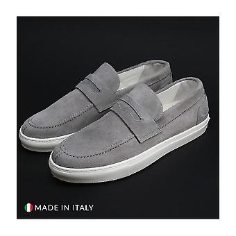 Duca di Morrone - Shoes - Moccasins - ENEA-CAM-GRIGIO - Men - Silver - EU 41
