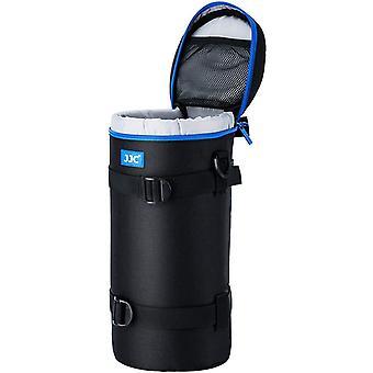 FengChun Deluxe Objektiv Tasche mit 1 x Umhängeband, Wasserabweisend, Schwarz, passt Objektiv