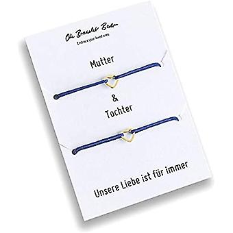 Set of 2 bracelets for mom and daughter, gold plated, 21 colors, nylon, for daughter, for mom, for every look and Color: Ref. 7141262345096