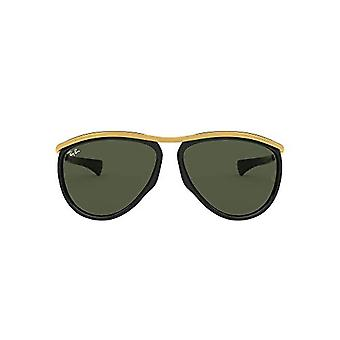 Ray-Ban Aviator Olympien RB2219-901/31 Lunettes, Noir/Or, 59.0 Unisex-Adulte