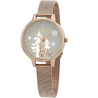 Olivia Burton Reloj de esfera gris winter wonderland de las mujeres - OB16AW01