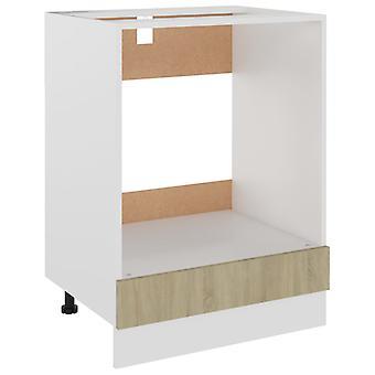 vidaXL kachel ombouwkast Sonoma eiken 60x46x81,5 cm spaanplaat