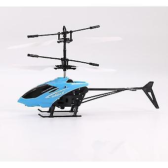 Helikopter blauwe kinderen outdoor hand sensor controle led knipperende bal helikopter vliegtuigen az8916
