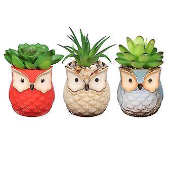 Som vist yardwe 3pcs kunstig saftig plante pot simulering grønne planter kreativ imitaton potte bonsai dekor for hjem dt2340