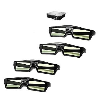 3d Glasses Active Shutter Rechargeable For 3d Emitter Projector Glasses