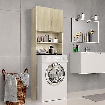 Waschmaschineschrank 64X25,5X190 Cm Spanboard Sonoma Oak Farbe