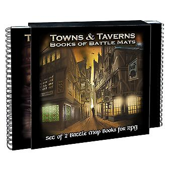 Towns and Taverns: Set of 2 Battle Map Books