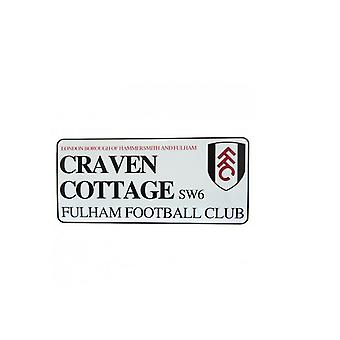 Fulham FC Street Sign