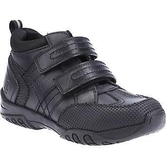 Hush Puppies Boys Jezza Boot School Boots Black Leather