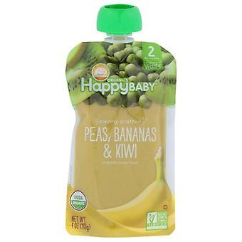 Happy Baby Pouch Pea Ban Kiwi, Case of 16 X 4 Oz