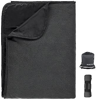 Mile Double-layer Foldable Picnic Mat Picnic & Outdoor Blanket(black)