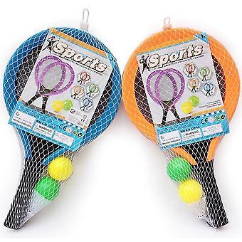 Lasten urheilu muovi sulkapallo maila lastentarha kangas tennis maila pallo lelut (sininen)
