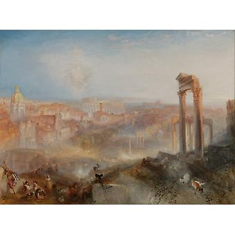 Modern Rome Campo Vaccino, J.m.w. Turner Art Reproduction. Romanticism Modern Hd Art Print Poster, Canvas Prints Wall Art For Home Decor Pictures