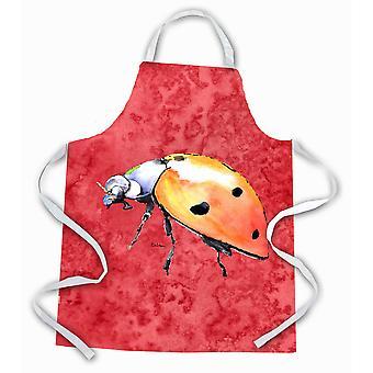 Tesoros de Caroline 8868APRON Lady Bug en delantal rojo, grande, multicolor