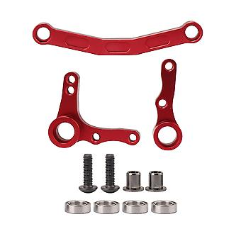 Red RC1:10 Steering Servo Saver Set Replacement for Redcat Aluminum