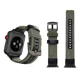 Jeep-style nylon watchband with stainless steel buckle for Apple Watch series 3 and 2 and 1 42 mm