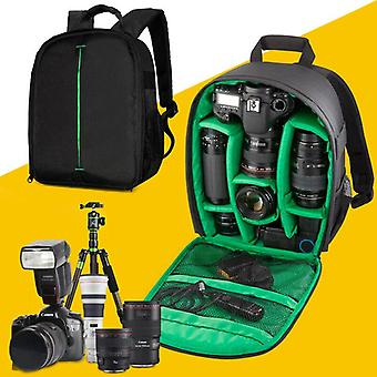 (Zöld) Fényképezőgép hátizsák, Unisex vízálló berendezés Photography Gears táska tok DSLR / tükörreflexes fényképezőgép