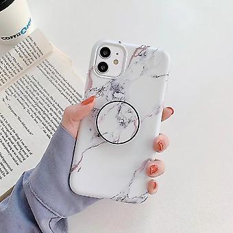 Esmerilado patrón de mármol caja de teléfono móvil (Blanco)