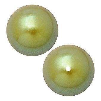 Preciosa Crystal Nacre Pearl, Round 6mm, 25 Pieces, Pearlescent Khaki