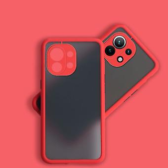 Balsam Xiaomi Mi 11 Pro Case with Frame Bumper - Case Cover Silicone TPU Anti-Shock Red