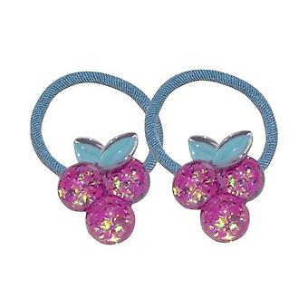 5SET Laser Sequins Floral Hair Ring Little Girl Bowknot Princess Sparkly Lovely Head String Summer