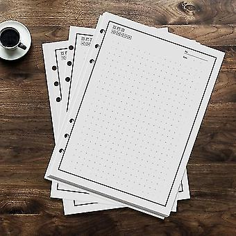 50 Sheets 100 pages reusable notebook inner paper refill compatible with pu a5 smart erasable