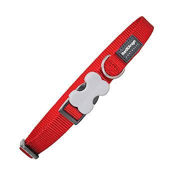 Red Dingo Dog Collar, Large, 25 mm/ 41 - 63 cm, Plain Red