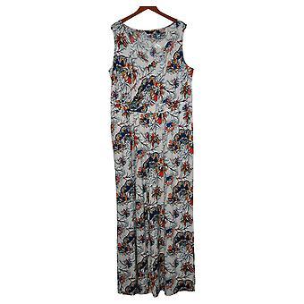 G av Giuliana Kvinners Jumpsuits Plus Strikket Floral White 649943