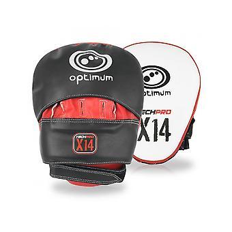 Optimaalinen Urheilu Techpro X14 MMA Koukku & Jab Mitts Vaahto vuorattu koulutussuojaus
