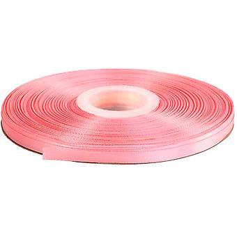 25m Laks Pink 6mm Bred Satin Bånd til Håndværk