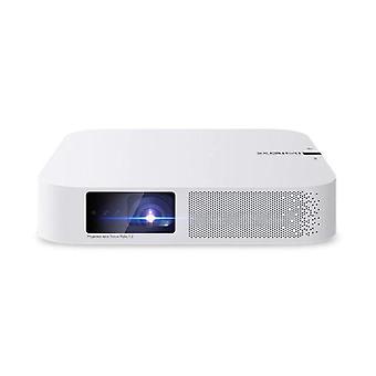 1080P Full HD LED Mini kannettava projektori (valkoinen)