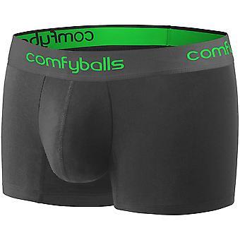 Comfyballs Men's Performance Regular Boxer Shorts Underwear - Charcoal Viper