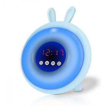Alarm clocks children student little wake upper watching room room decoration cartoon colorful load night blue