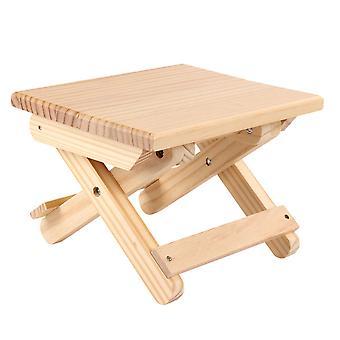 屋外および屋内使用のための1pc木製折りたたみ式タボルレ木製折りたたみスツール屋外釣り椅子小さなスツール(淡黄色)