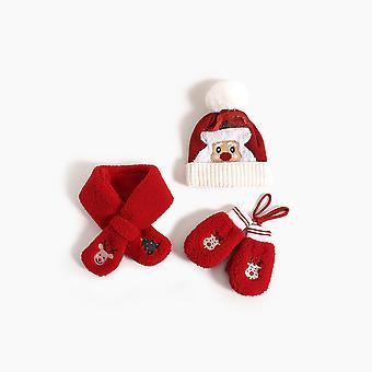 Hüte Schals Handschuhe Baby Weihnachten Plüsch Cartoon Rentier Geweih Winter Warm Jungen Und Mädchen Ohrenschützer ohne Traufe