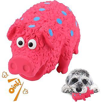 Psí hračky Nezničitelné pro malé střední psy Pes žvýkat pískavé hračky Prase Interaktivní štěně hračka