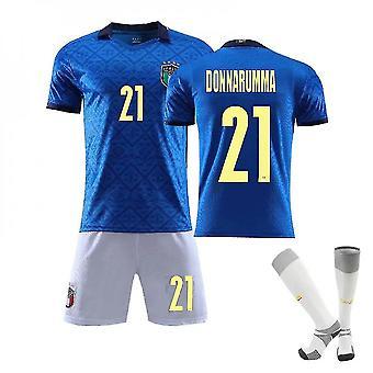 Donnarumma #21 Jersey European Italy National Soccer Teams Soccer T-shirts Jersey Set