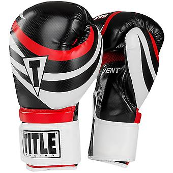 Title Boxing Infused Foam Enthrall Hook & Loop Training Gloves - Black/White/Red