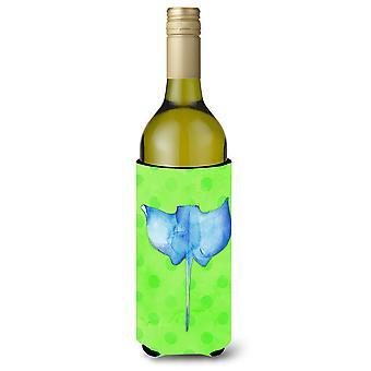 Sting Ray grüne Polkadot Wein Flasche Beverge Isolator Hugger