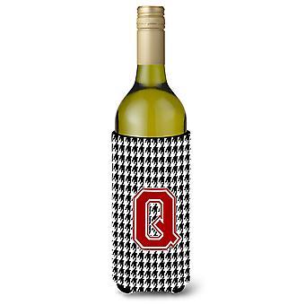 Monogrammi - Houndstooth alkuperäisen Q viinipullo juoma eriste juoma Insul