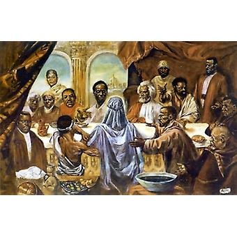Black Leaders Last Supper Poster Print by Cornell Barnes (26 x 18)