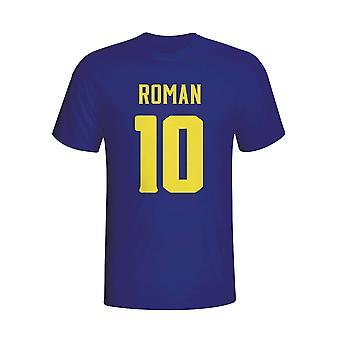 Juan Roman Riquelme Boca Juniors-Held-T-Shirt (navy)