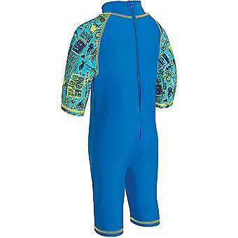 Zoggs Kids Deep Sea ééndelig zwemmen kostuum blauw voor kinderen van 1 tot 6 jaar