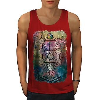 Geometry Circles Men RedTank Top | Wellcoda