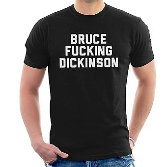 Bruce Dickinson Herren T-Shirt ficken