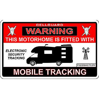 W4 Security Tracking Fitted Motorhome Sticker
