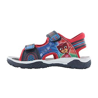 Boys P J Masks Blue Sports Beach Sandals Hook & Loop Sizes UK 5-10