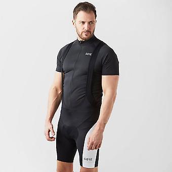 New Gore Men's C3 Bib Short+ Black/White