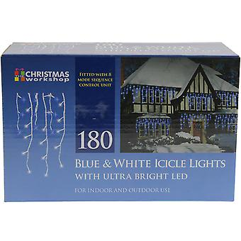 Christmas Workshop 180 Blue And White LED Icicle Xmas Lights Indoor And Outdoor Use