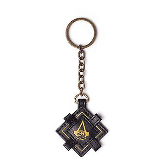 Assassins Creed Origins Keychain Faux-Leather Black (KE367899ACE)